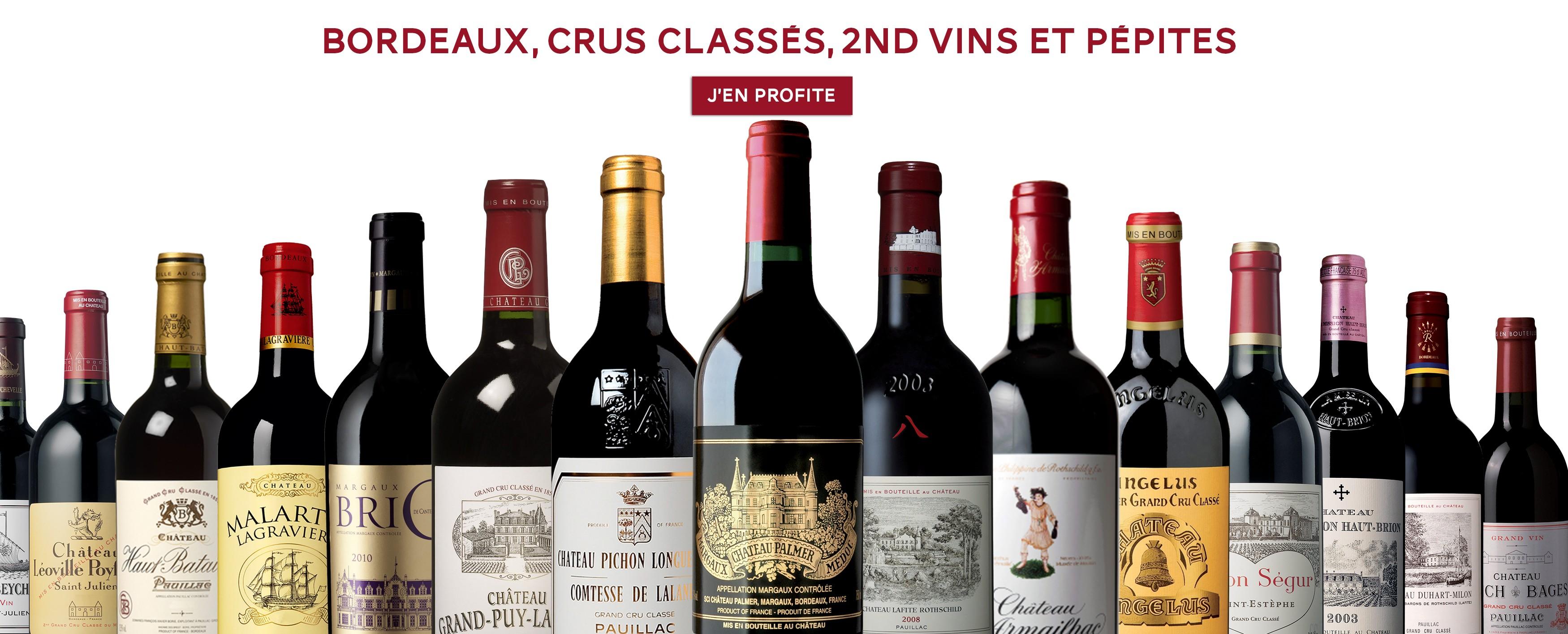 Bordeaux, Crus Classés et 2nd Vin