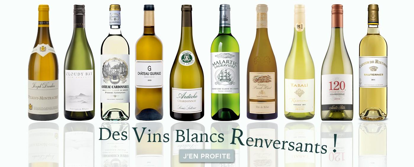Découvrez notre sélection de vins blancs
