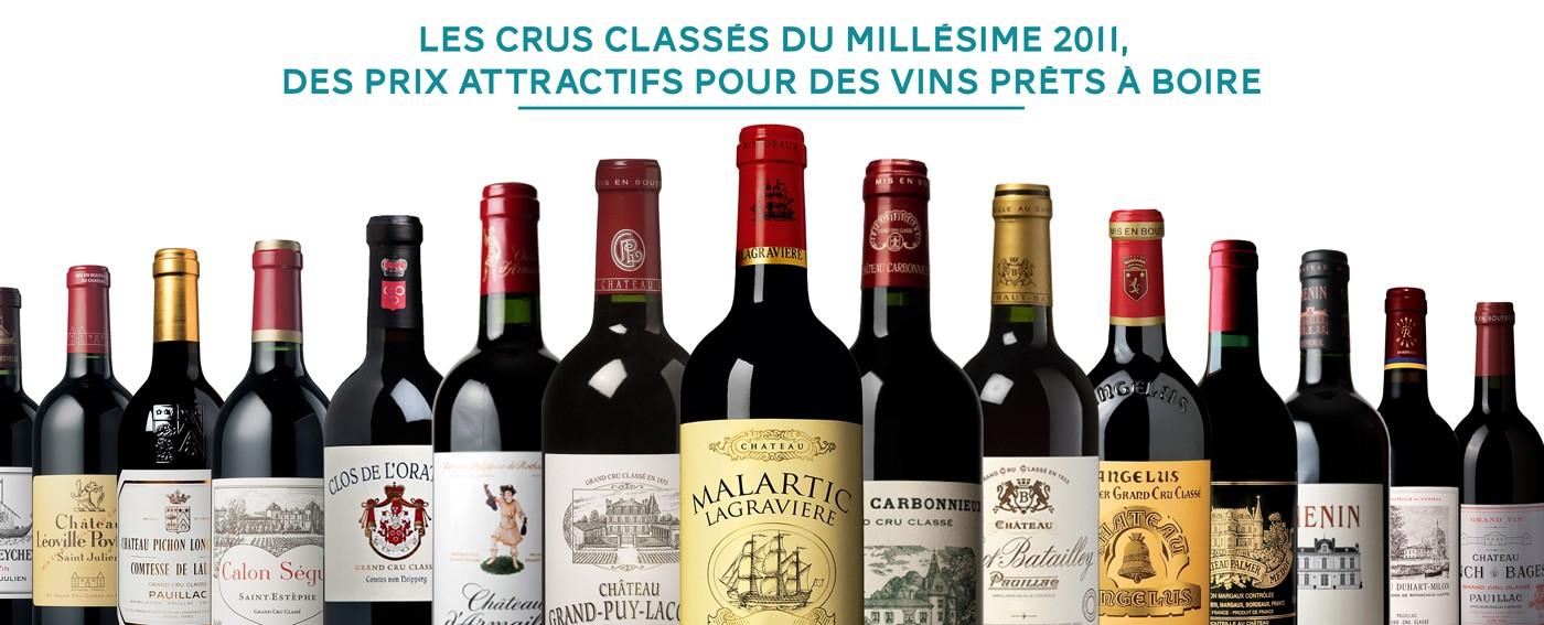 Bordeaux, les Crus Classés 2011 à prix attractifs
